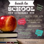 Learn more about our upcoming Back to School Extravaganza!!