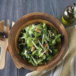 Chilean Cherry, Blueberry, and Walnut Mixed Green Salad