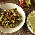 Maple Roasted Brussels Sprouts with Chilean Grapes and Pecans