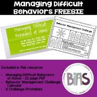 Managing Difficult Behaviors FREEBIE