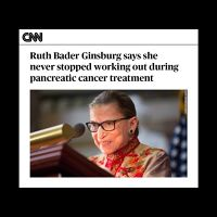 RBG says she never stopped working out during pancreatic cancer treatment