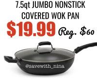 Nonstick Covered Wok Pan
