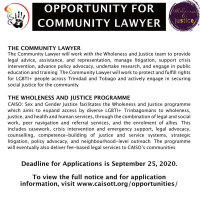 Job Opportunity: Lawyer with Wholeness and Justice