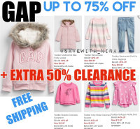GAP EXTRA 50% OFF, code GFGREAT and SHIPPED