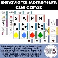 Behavioral Momentum Cue Cards on TPT