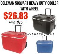 Coleman 50quart Cooler