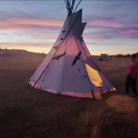 Book This> TIPI in Cheyenne, WY        @CirclingCrowsTipiRental          AirBnb