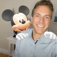 Disney characters on Snapchat