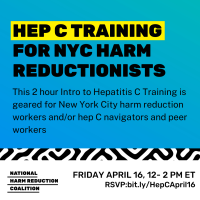 Register: Hep C Training for NYC Harm Reductionists Apr 16