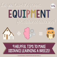 Distance Learning Tips Blog Post & Printable