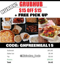 GRUBHUB FREE FOOD WIT LH MY LINK