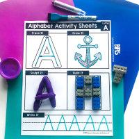 Alphabet Activity Sheets via TPT