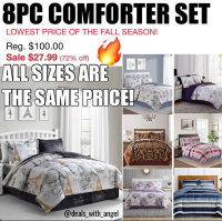 """8PC COMFORTER SETS text """"MAGIC"""" to """"62297"""""""