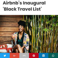 Recognition by Airbnb as a Top Black Travel Leader