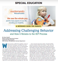 Special Education Reference Guide (Boston Parents Paper)