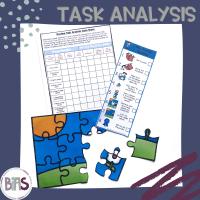 Task Analysis | Printable Visual Checklists with Data Sheets