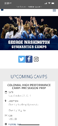 George Washington Fall Camp