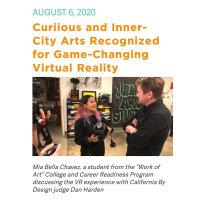 Curiious x Inner-City Arts: Virtual Reality Education Platform