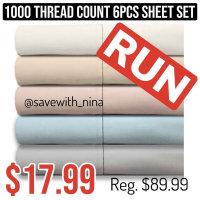 1000-Thread Count  Sheet Set