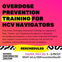 Register: Overdose Prevention Training for HCV Navigators May 20