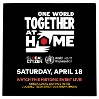 Tune in to One World: Together At Home ❤️