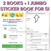 2 Books + 1 Jumbo Sticker Book for $1
