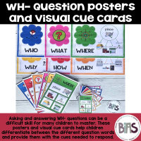 WH Question Posters and Visual Cue Cards on TPT