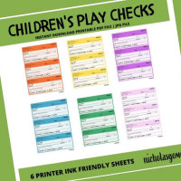 Kid's Printable Checks