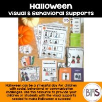 Halloween Visual & Behavioral Supports on TPT