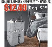 Double Laundry Hamper with Handles