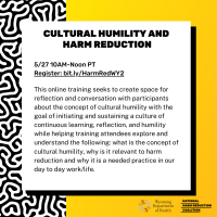 Register: Cultural Humility & Harm Reduction - May 27