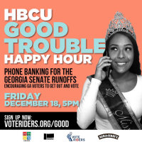 Help get out the vote in Georgia! Join us for the Good Trouble Happy Hour!