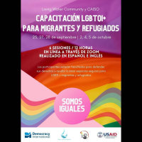 Somos iguales: Capacity building for the LGBTQI+ migrant community