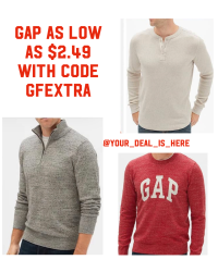 Gap super sale up to 85% off use code GFEXTRA