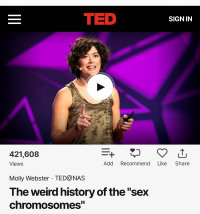 Molly Webster's TED Talk: The Weird History of the 'Sex Chromosomes'