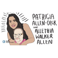 """Patricia """"Chookenshaa"""" Allen-Dick    We hold history in our blood"""