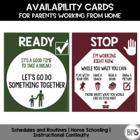 Availability Cards: A FREE Printable for Parents Working from Home