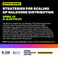 Register: Strategies for Scaling Up Naloxone Distribution Apr 21
