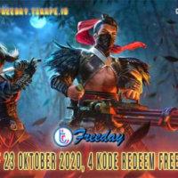 Kode Redeem FF 23 Oktober 2020, 4 Kode Redeem Free Fire Terbaru !