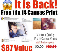 FREE CANVAS ONLY PAY SHIPPING