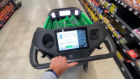 Amazon's high tech shopping cart