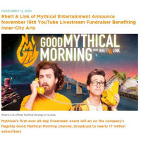 🎇 Good Mythical Morning x Inner-City Arts Announcement🎇