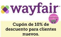 Cupón de bienvenida de Wayfair.
