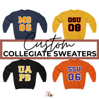 Custom Collegiate Sweatshirts 👉🏾 Add Your School + Colors Here 👈🏾