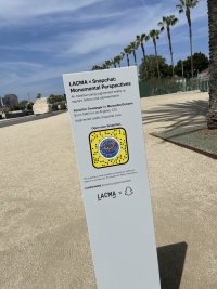 LACMA Snapchat virtual art exhibits