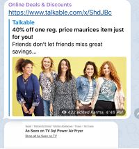 Get 40% off from  Maurices + $5 off