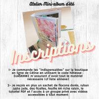 Inscription à l'atelier Mini-album d'été