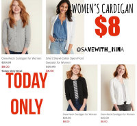 $8 Women's cardigan