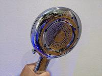 High tech showerhead feels great, saves water