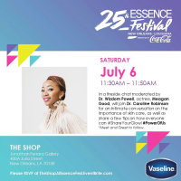 Essence Fest panel with Meagan Good and Vaseline